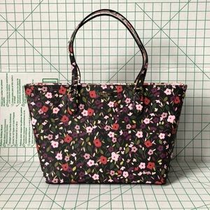 Kate Spade medium floral zip tote
